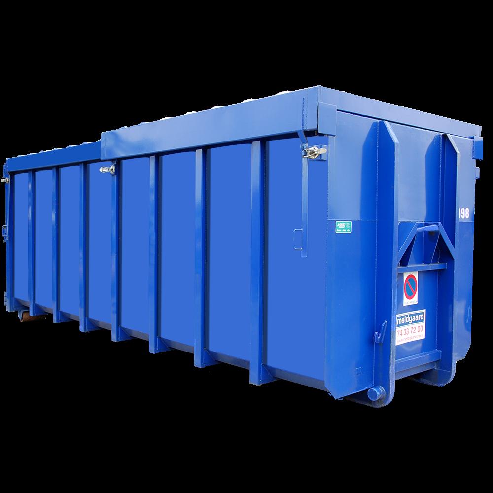Maxicontainer med skydelåg