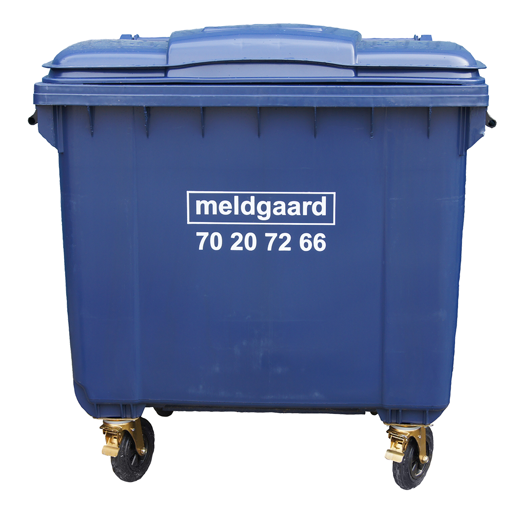 Minicontainer med 4 hjul - 800 liter