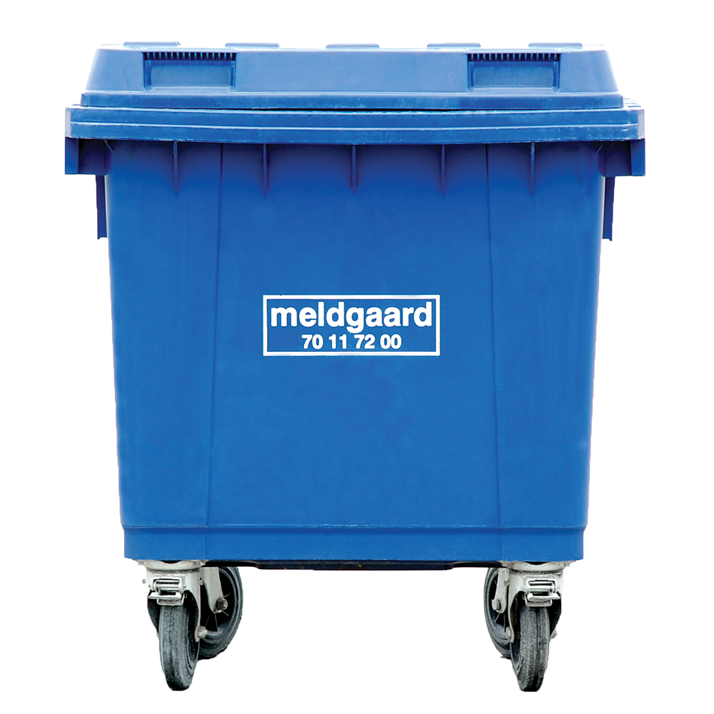 Minicontainer med 4 hjul - 400 liter