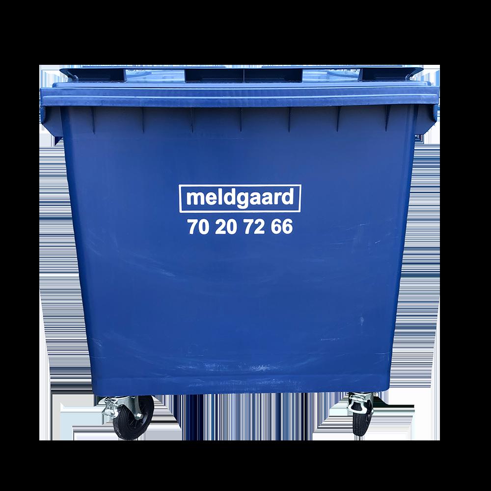 Minicontainer med 4 hjul - 660 liter